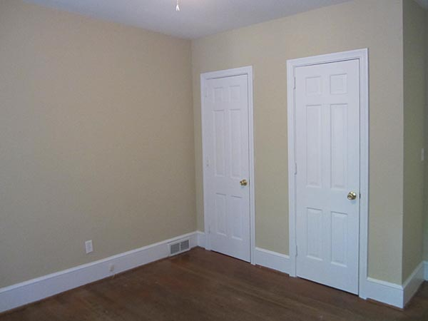 Bedroom closet to living room