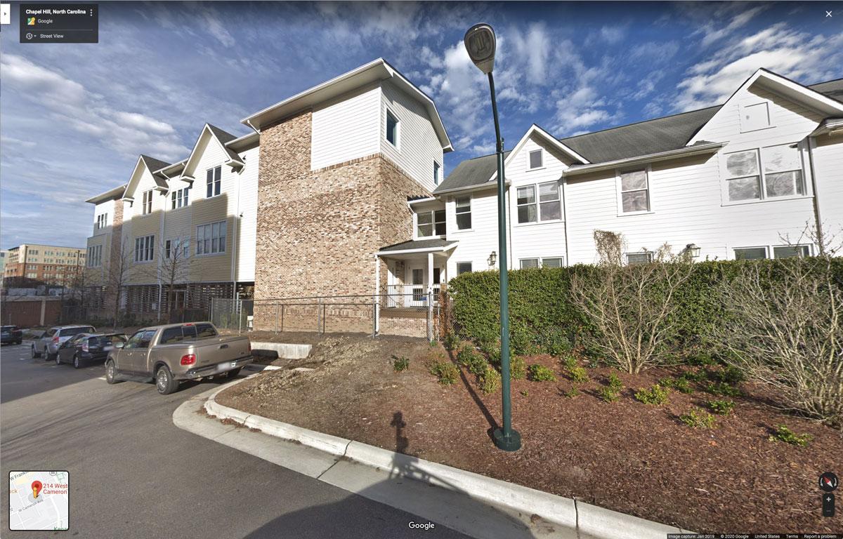 214 West Cameron - Google Street View capture June 2019 - © 2020 Google