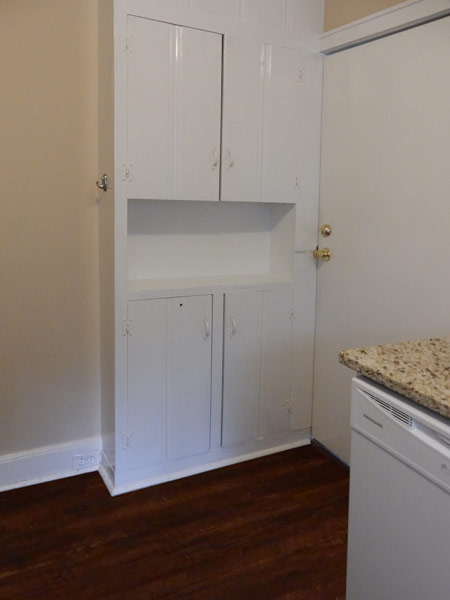 Additional cabinet space