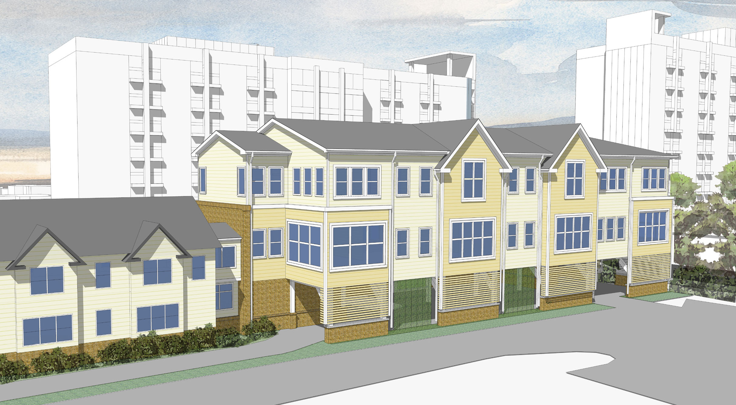 214 West Cameron - Architect's rendering of 12,000 sq. ft. addition